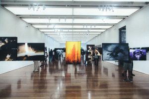 Museum with Paintings