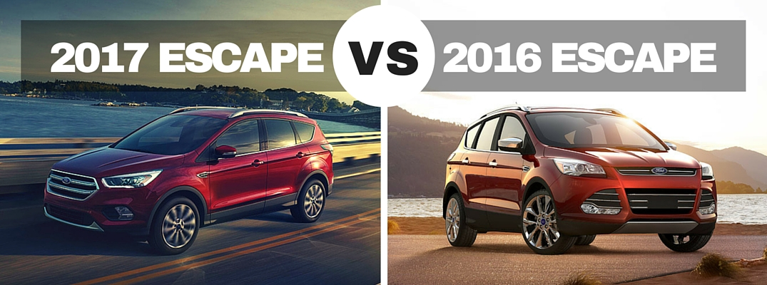 2017 vs 2016 Ford Escape model comparison