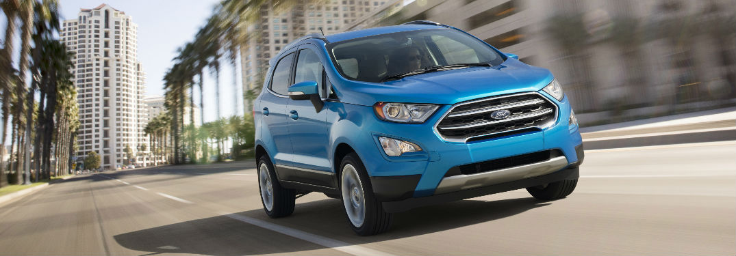 2018 Ford EcoSport EcoBoost engine options