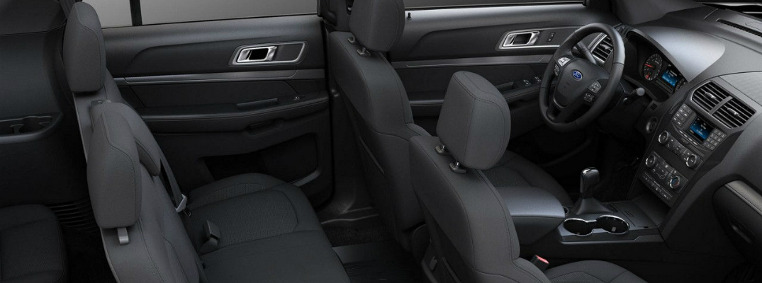 All-Black Interior of the 2018 Ford Explorer