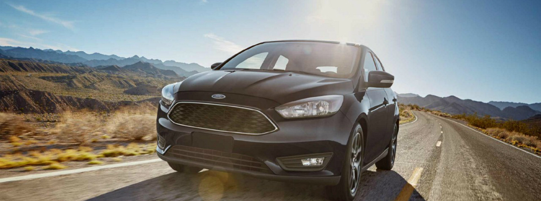 2018 Ford Focus Driving Away From Mountain
