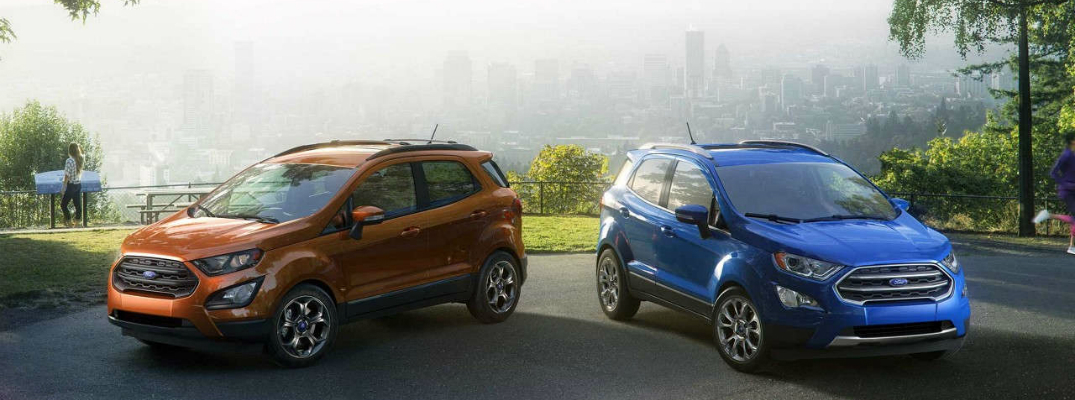Two Ford EcoSport Models Side by Side