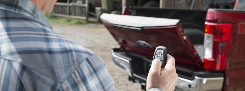 Man Using His Ford Key Fob