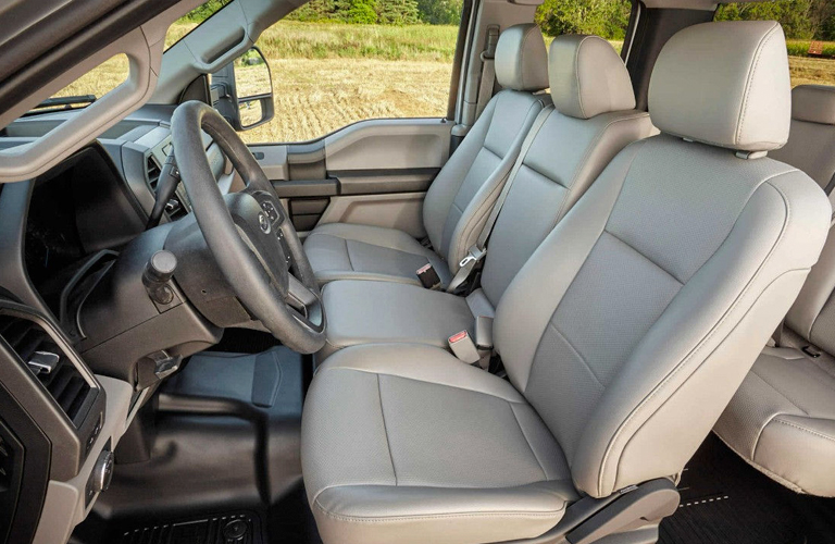 Front Two Seats And Steering Wheel Of 2018 Ford Super Duty