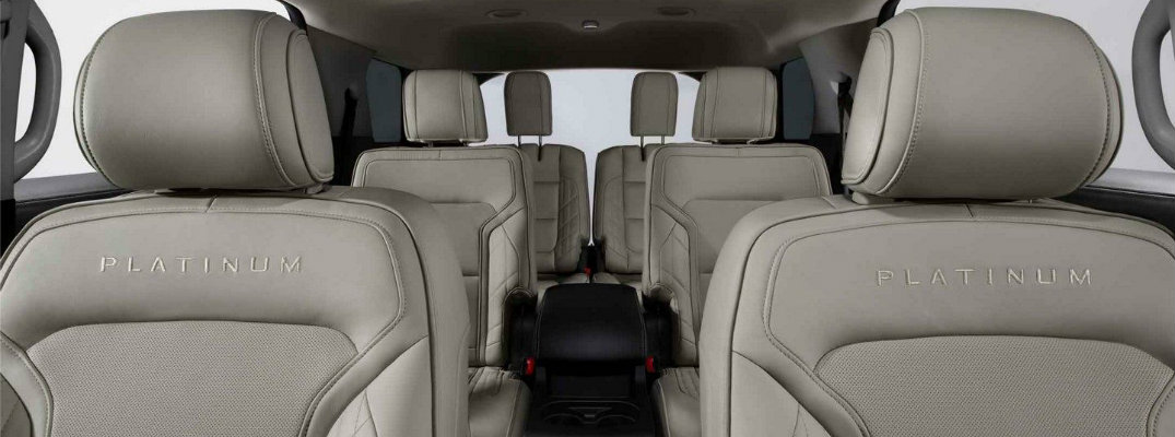 Three rows of seating inside 2018 Ford Explorer Platinum