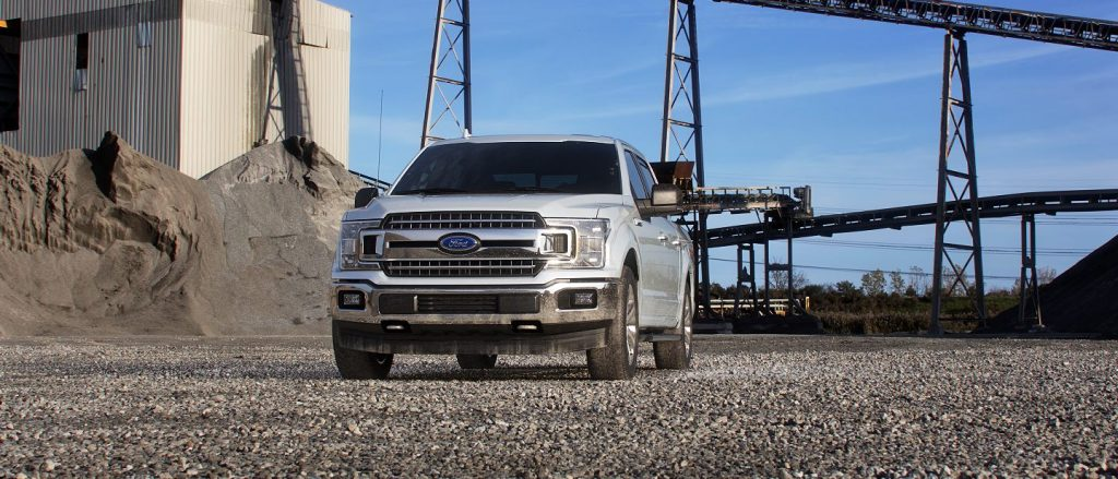 2019 Ford F-150 in White Platinum