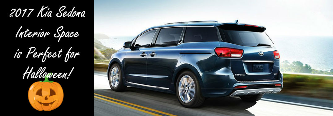 You Can Pack The Whole Family And All Of Your Halloween Candy! » 2017 Kia  Sedona Interior Space For Halloween_m