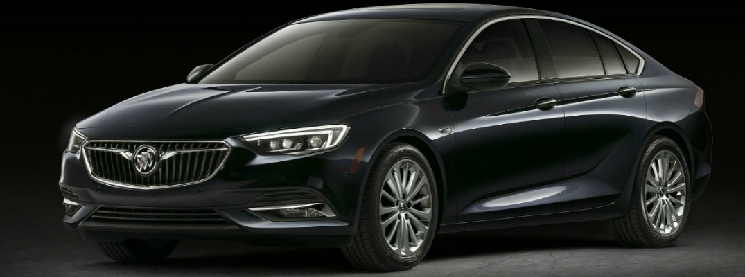 front view of black buick regal sportback
