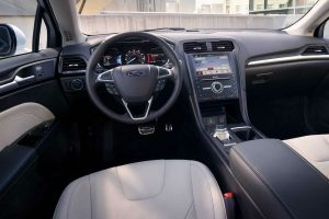 Drivers cockpit of the 2018 Ford Fusion