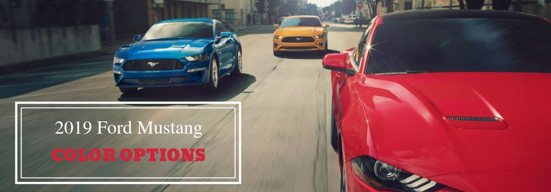 What Are The Exterior Color Options For The 2019 Ford Mustang