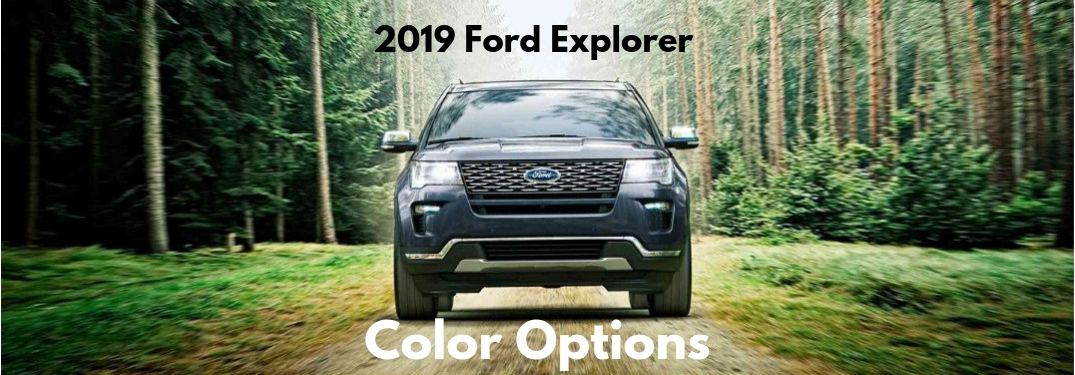 What are the Exterior Paint Color Options for the 2019 Ford Explorer?