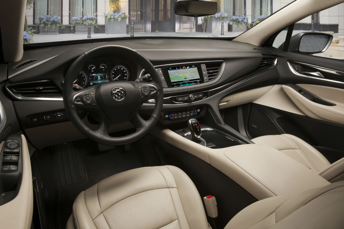 Driver's cockpit of the 2019 Buick Enclave