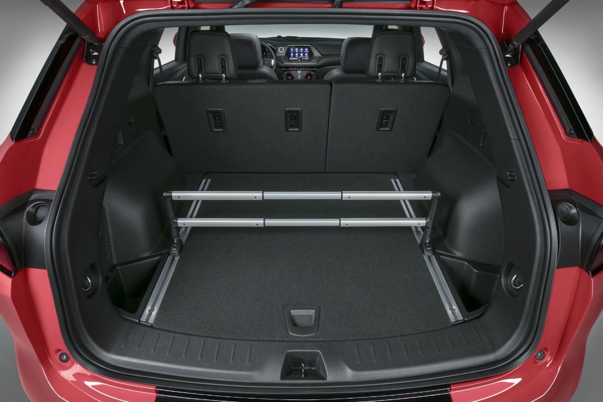 Rear cargo area of the 2019 Chevy Blazer
