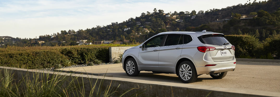 Driver side exterior view of a gray 2019 Buick Envision