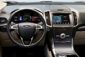 Driver's cockpit of the 2019 Ford Edge