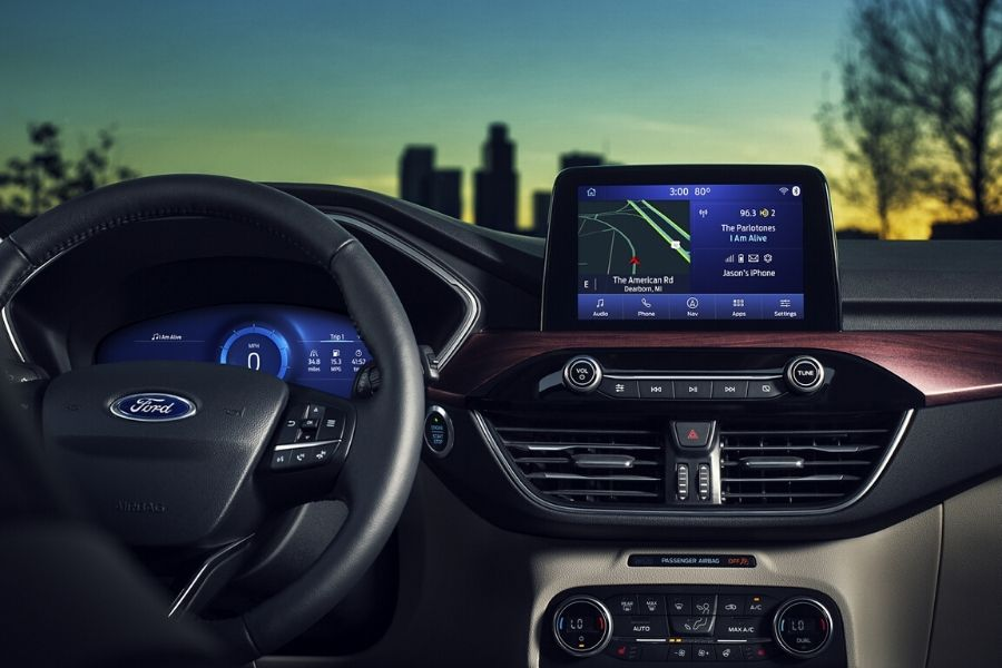 2020 Ford Escape eight-inch touch screen display