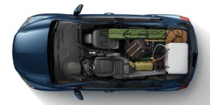 Camper Cargo on 2020 Chevy Trax from above