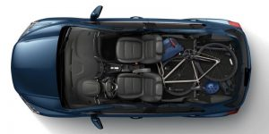 Cyclist Cargo on 2020 Chevy Trax from above