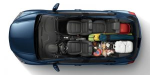Fan Cargo on 2020 Chevy Trax from above