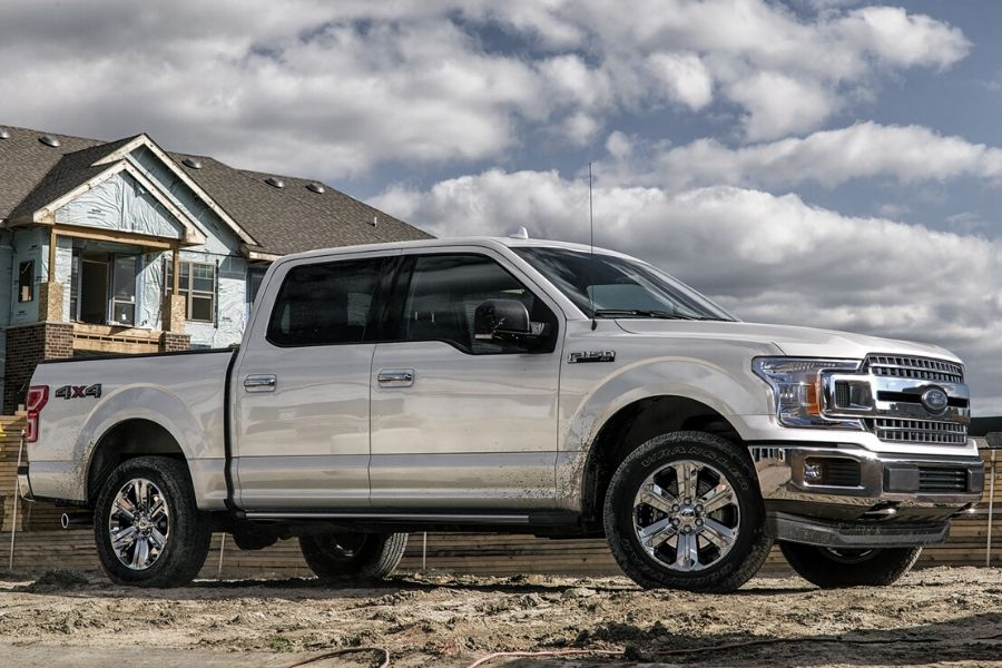 2020 Ford F-150 XLT parked at construction site from exterior front passenger side