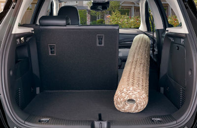 2020 Buick Encore interior cargo area one rear seat folded down