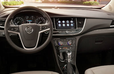 2020 Buick Encore interior steering wheel dashboard and infotainment center