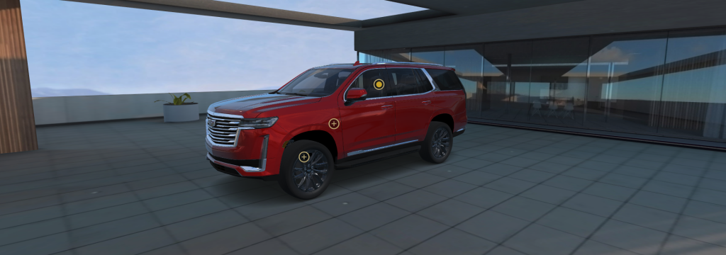 escalade in red