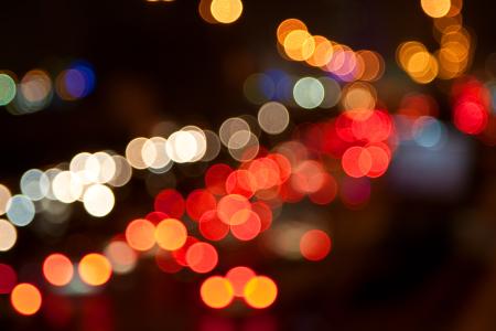 brake lights at night