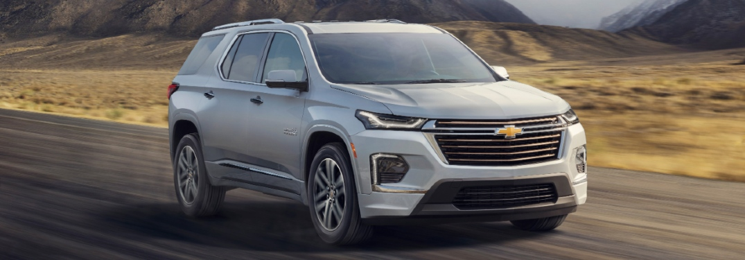 silver 2021 chevy traverse