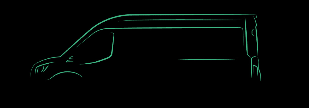 outline sketch of electric ford transit