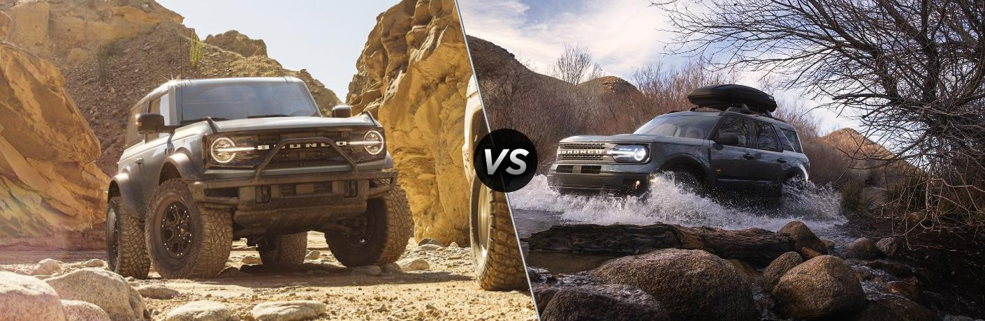 What's the difference between the 2021 Ford Bronco and 2021 Ford Bronco Sport?