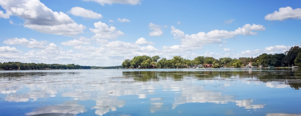 A photo from Frost Woods Beach, which is located on Lake Monona Bay in Wisconsin
