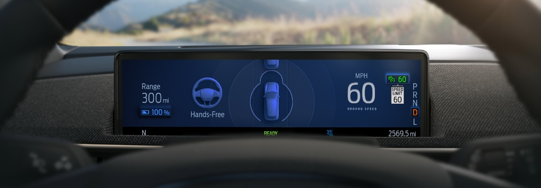 Hands-free driver assist computer display on dash