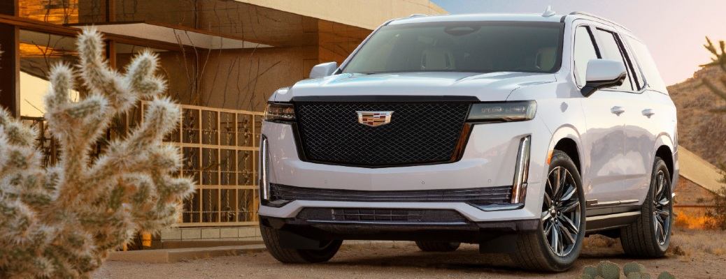 Front/side view of 2021 Cadillac Escalade
