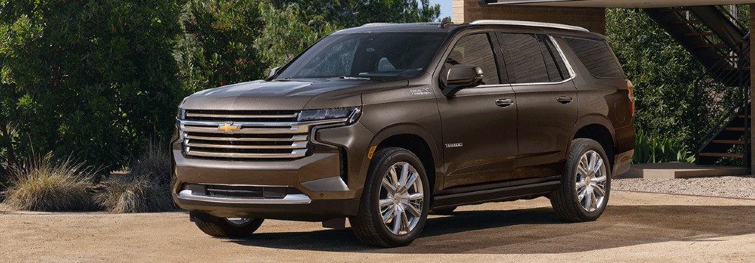 2021 Chevy Tahoe front/side view