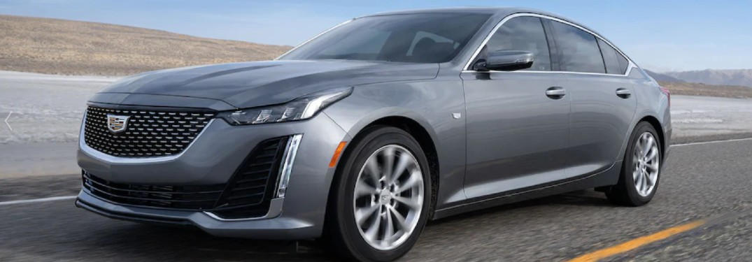 2021 Cadillac CT5 driving on a road