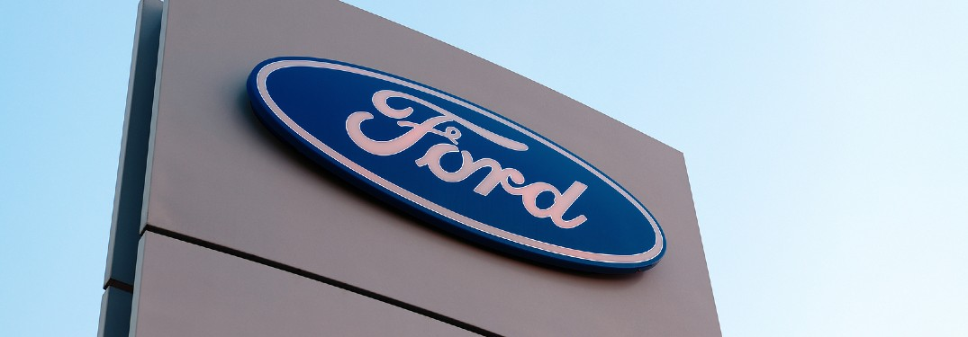 Ford logo on a building