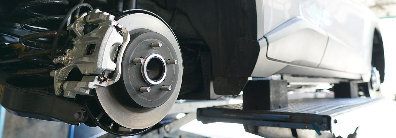Brake rotor on a car