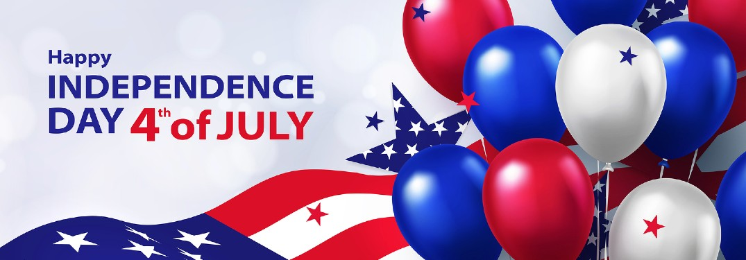 """Patriotic graphic with the text """"Happy Independence Day 4th of July"""""""