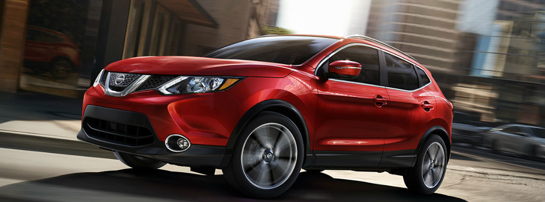 Front view red exterior - 2017 Nissan Rogue Sport Features, Fuel Economy, and Technology