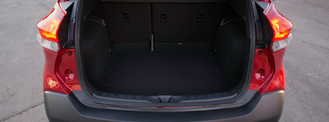 2018 Nissan Kicks cargo space with the rear seats down