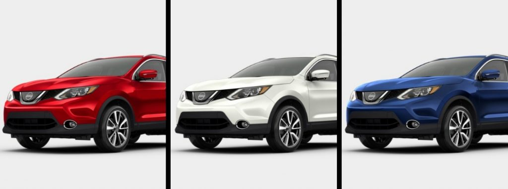 What are the 2018 Nissan Rogue Sport color options?