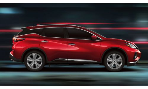 2020 Nissan Murano red surreal background facing right