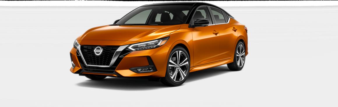 2020 Nissan Sentra Super Black and Monarch Orange Metallic