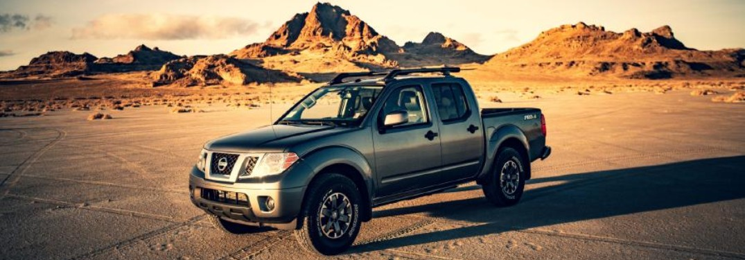 2020 Nissan Frontier front and side profile