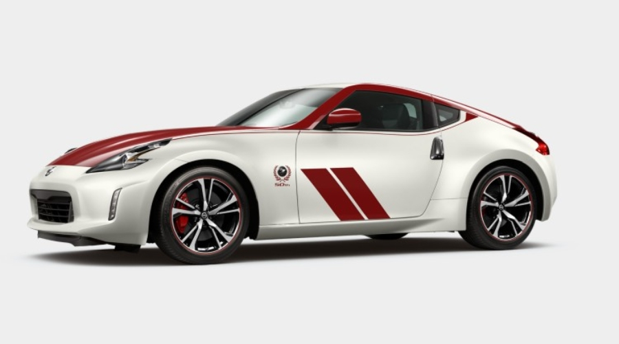 2020 Nissan 370Z Coupe Two Tone Pearl White Tricoat/Solid Red