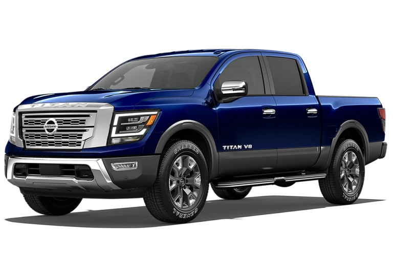 2020 Nissan TITAN Deep Blue Pearl Metallic/Gun Metallic