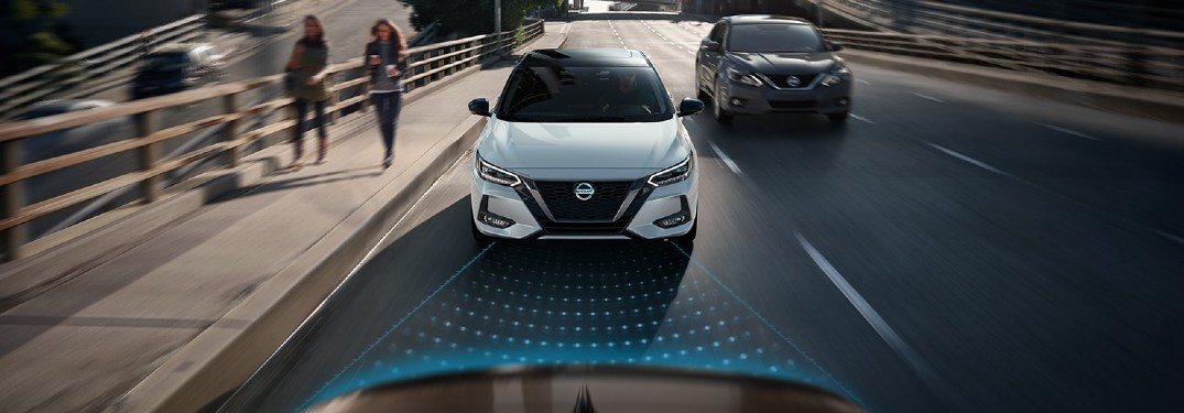 2020 Nissan Sentra driving on a street