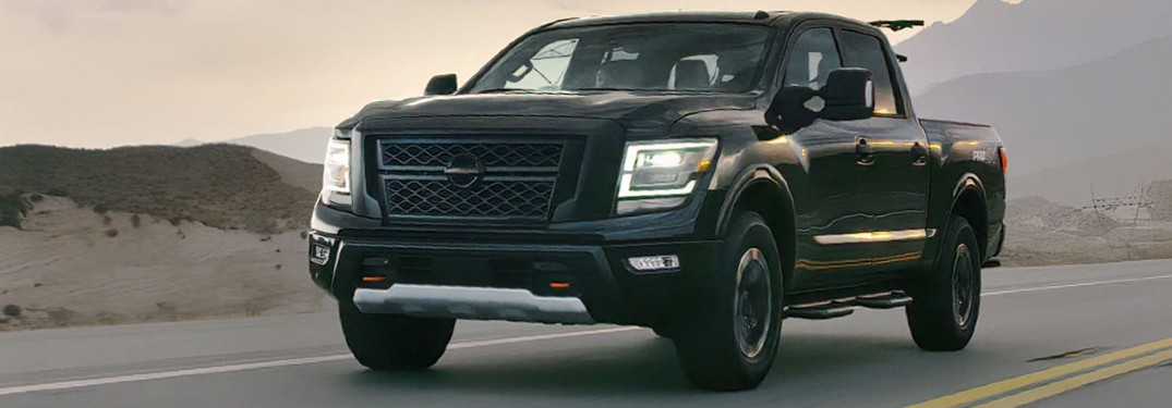 2020 Nissan Titan driving on a road