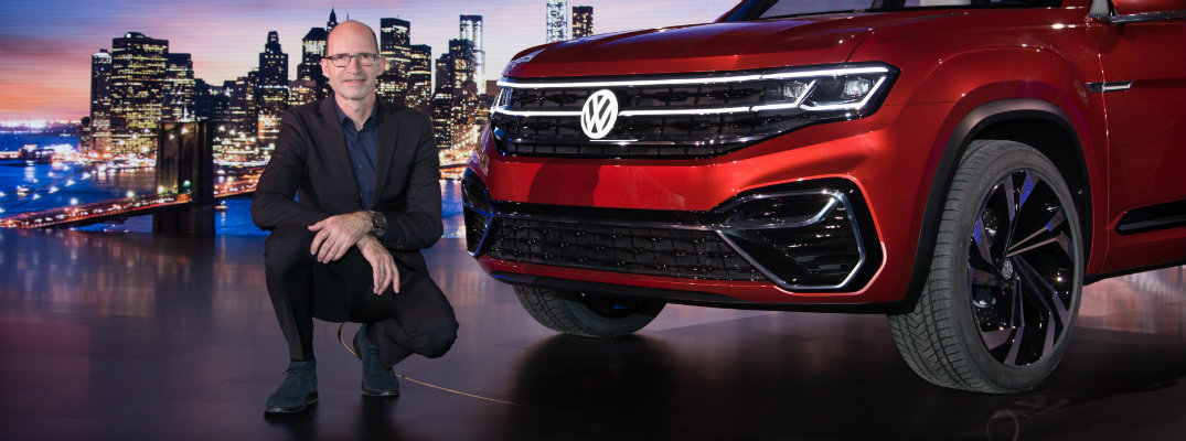 Klaus Bischoff of VW at the NY International Auto Show